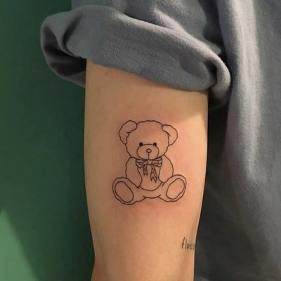 【萌古屋】】可愛熊熊 - 防水紋身貼紙刺青貼紙 HC-3014