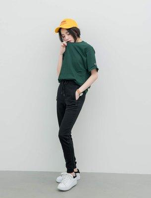 {LYJ} 美版 潮流 Champion 袖口刺繡LOGO 素Tee 短T 短袖 6.1oz (森林綠賣場)