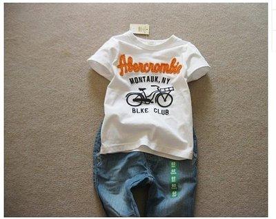* 2015春夏款 美國 男童爆款短袖t恤 自行車 多色 現貨