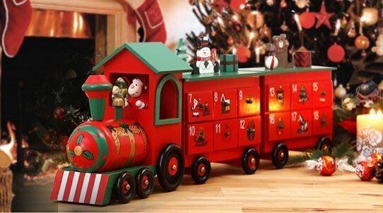【易發生活館】新品christmas聖誕3節火車日歷盒 Advent Calendar 傳統裝飾禮品擺件