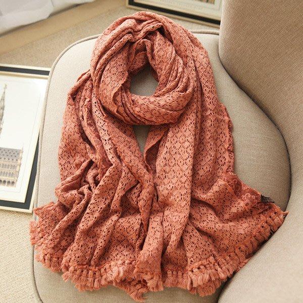 日本秋冬新品 針織 蕾絲 細緻蕾絲圍巾 日本保暖圍巾 長款披肩圍巾190*90CM
