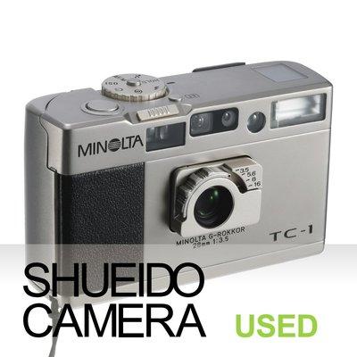 集英堂写真機【3個月保固】美品 MINOLTA TC-1 TC1 28mm F3.5 經典 底片相機 隨身機 19979