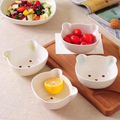 兒童卡通陶瓷米飯碗吃飯碗可愛湯碗家用個性日式小碗沙拉碗