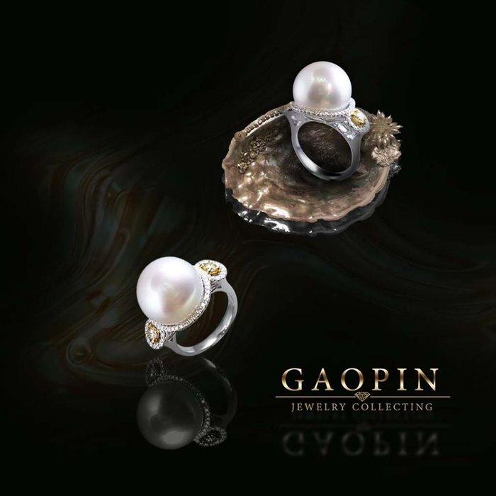 【高品珠寶】14.36mm南洋珍珠戒指 女戒 母親節禮物 #2752