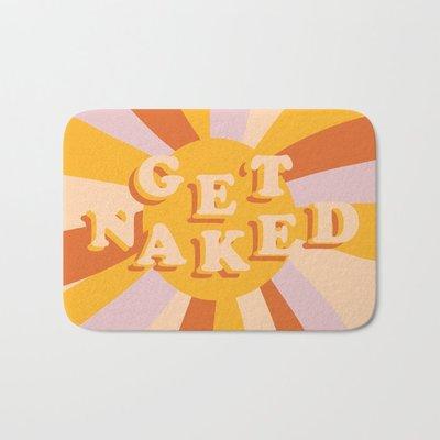 Caro~Get Naked 創意英文字母 硅藻泥吸水地墊 ins浴室衛生間防滑腳墊