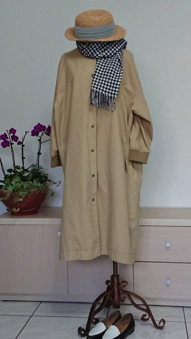 日式原單設計款大器棉質雙層風衣外套(老銀屋)