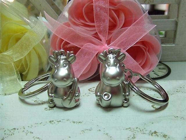 ☆創意小物店☆ 對牛彈琴 銀牛樂團 鑰匙扣/創意可愛金屬鑰匙圈 時尚造型個性飾品