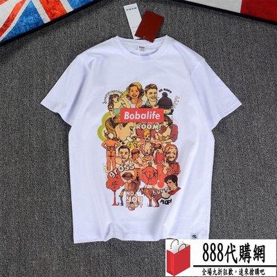 男士夏裝T恤 白色學生情侶寬松潮流潮牌半袖 潮品【888代購網】