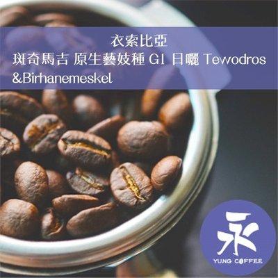 [永咖啡]超值749元1磅裝,斑奇馬吉 原生藝妓種 G1 日曬(衣索比亞)淺焙咖啡豆,滿498元免運,新鮮烘焙