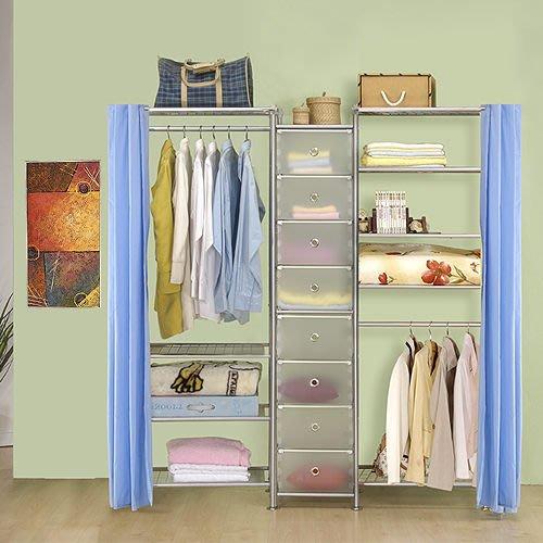 【中華批發網DIY家具】D-62C-04-W4型60+pp+W5型60衣櫥置物櫃-(前罩)不織布