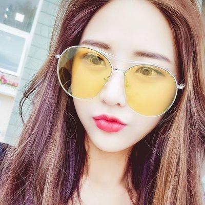 【老王家】海洋片墨鏡女 潮韓國太陽眼鏡 李小璐同款 個性圓臉眼睛男士