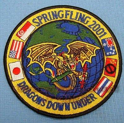 收藏品 VFA192金龍GoldenDragons 2001 Spring Fling演習紀念徽章