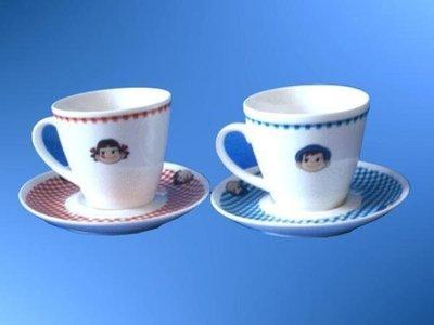 【不二家海盜屋】*超取滿799元免運費-不二家正版--peko牛奶妹--咖啡杯組(杯子+盤子)共4件--批發價499元