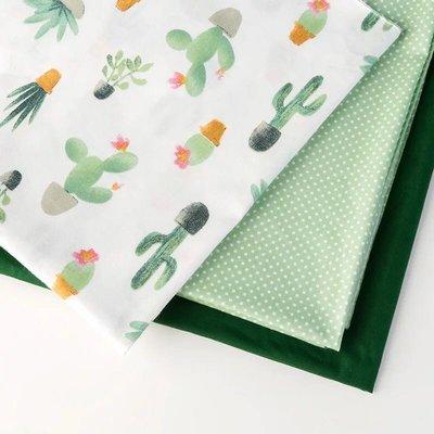 戀物星球 多肉植物棉麻布料背景布INS風亞麻桌布抱枕沙發面料田園風格