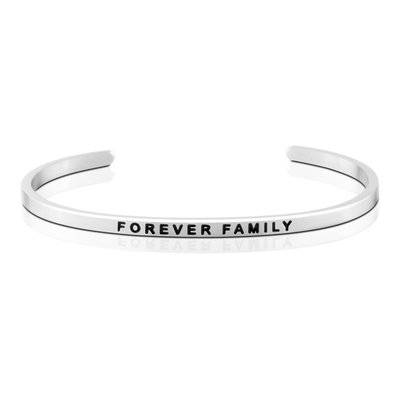 MANTRABAND 美國悄悄話手環 FOREVER FAMILY 永遠的家人 銀色手環