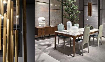 [米蘭諾家具]複刻Giorgetti Anteo 餐桌 工作桌 天然石材餐桌 台灣製造