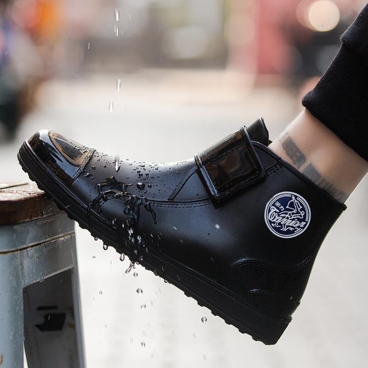 防水雨鞋 回力男款時尚短筒雨靴低幫水靴防滑耐磨膠鞋防水套鞋廚房水鞋--潮流前線