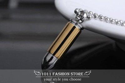 【 1011 精品小舖 】韓國 西德鋼 / 鈦鋼 / 不鏽鋼 黃金子彈 男性項鍊 羅志祥 子彈項鍊