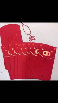 (全新8入)施華洛世奇 豬年 生肖 水晶 紅包袋(另 Kitty 星巴克 Cartier)
