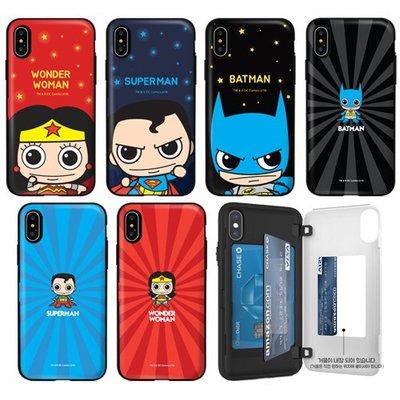 DC 超人 蝙蝠俠 神力女超人 防摔側開卡夾 手機殼│iPhone 6 6S 7 8 Plus│z9109