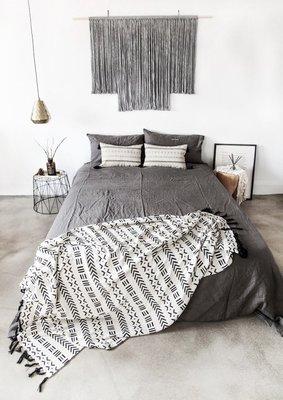Meiprunus △ 原創 設計 全棉針織 雙面 蓋毯 毛毯 空調毯