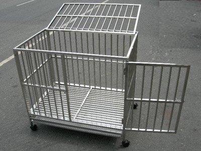 *優比寵物* 3尺*2尺【全新#304級】(白鐵扁管站板型)白鐵不銹鋼/不鏽鋼管狗籠/寵物籠(台灣製造)(促銷優惠價)