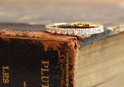 日本訂製18k金鑽石戒指 線戒 tiffany agete 輕珠寶風格