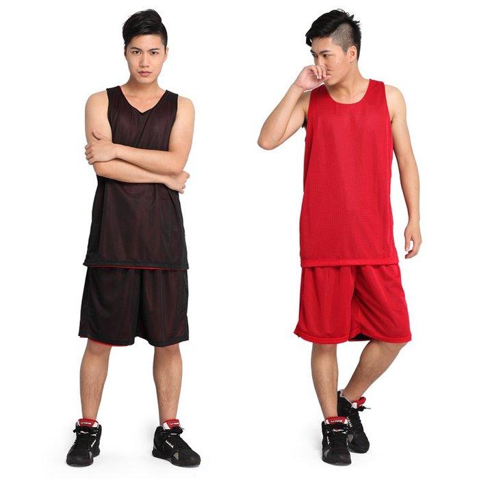 透氣速干網眼雙面籃球服黑比賽隊服套裝定制印字號訓練背心球衣男 交換禮物--獨品飾品吧☂