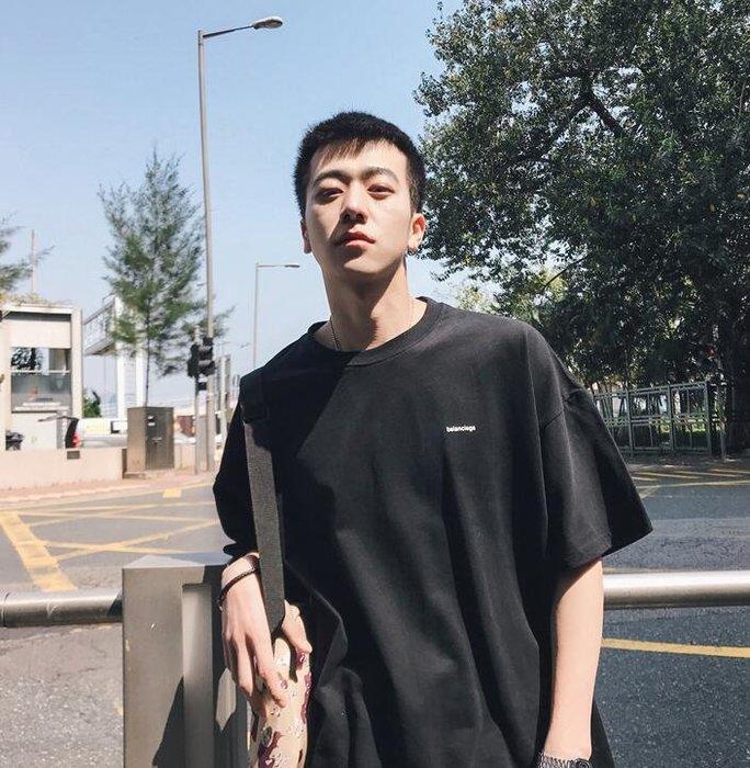 韓系新款男士寬松圓領短袖T恤韓版百搭潮流 C227