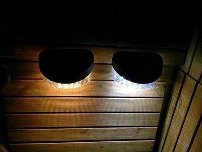 €太陽能百貨€ 保固三個月 8LED 太陽能燈 籬笆燈 圍欄片 柵欄燈 小壁燈 花園燈 點綴 裝飾燈 庭園裝飾 L-08 高雄市