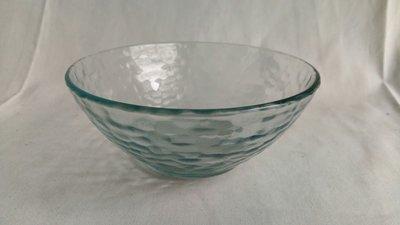 水藍色玻璃沙拉碗 甜湯碗
