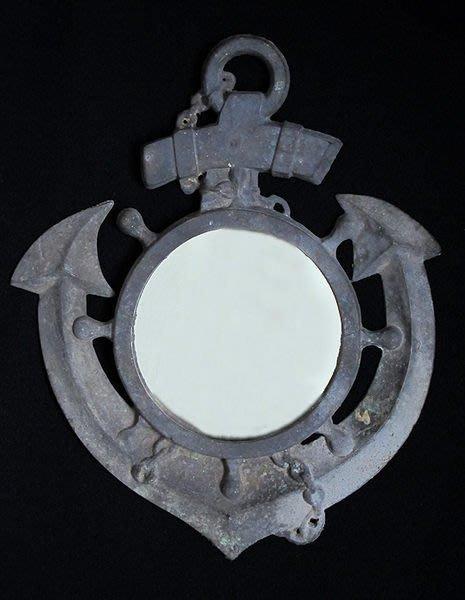 海軍船錨掛鏡子鐵器家飾品【心生活美學】