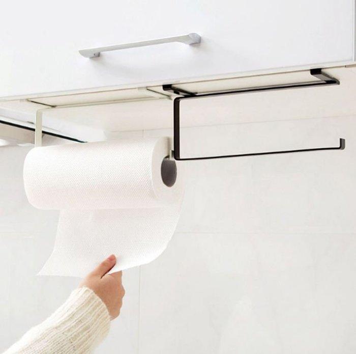 免釘孔捲紙架廚房用紙掛架