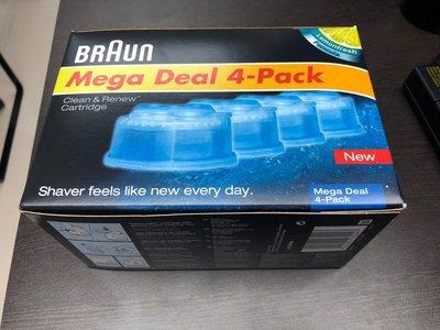 德國百靈 BRAUN 電動刮鬍刀專用清潔液四入裝,適用於9295cc/9290cc/9297cc/9296cc。