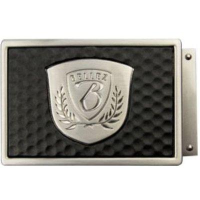 藍鯨高爾夫 BELLEZ Double Fun iBelt-Shield 寬版髮絲紋皮帶頭 #15210202