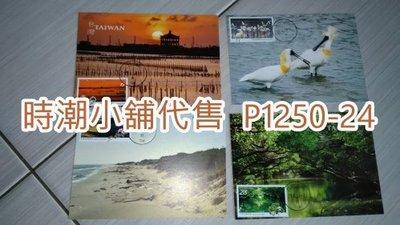 **代售郵票收藏**2020 七股/安平郵局/黑面琵鷺代辦所 台江國家公園郵票原圖卡自然片  P1250-24