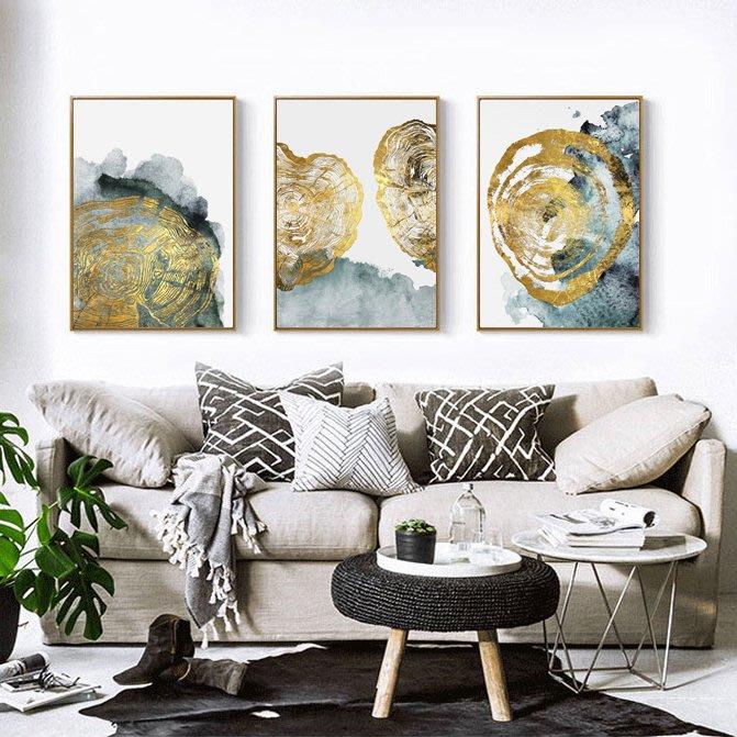 三幅一組油畫布 抽象藝術 畫芯/畫布/30X40☺暖暖屋☺傢居藝術館