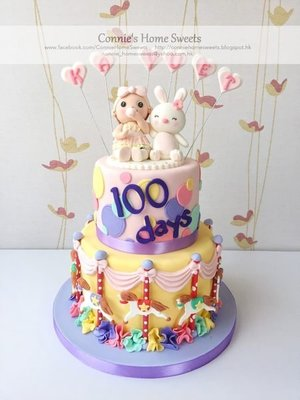 【Connie's Home Sweets】Carousel Merry-Go-Round cake Baby Shower Birthday Full Moon 旋轉木馬
