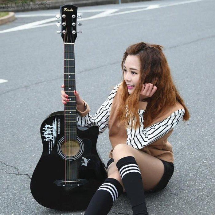 378寸民謠木吉他初學者男女學生練習樂器送大禮包新手入門jita