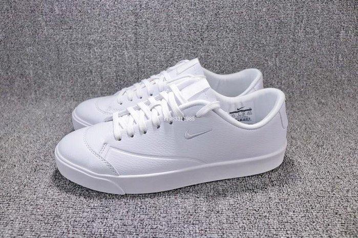 Nike Blazer City Low 全白 百搭 皮革 小勾 滑板鞋 男女鞋 AJ9257-100