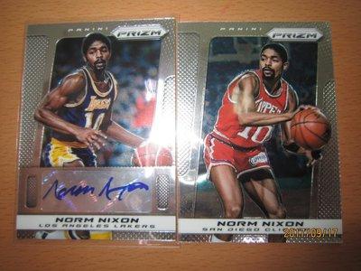 網拍讀賣~Norm Nixon~傳奇球星~PRIZM簽名卡~auto~PRIZM亮面卡~普特卡~共2張~350元~輕鬆付