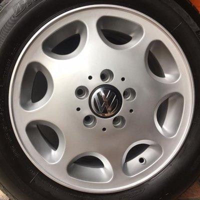 賓士原廠16吋鋁圈含胎 福斯 VW T4 VR6 Golf Caddy Golf Touran Passat Skoda