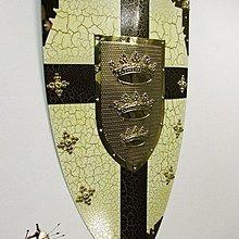 中世紀盔甲盾牌複古歐式工藝裝飾盾牌仿古酒吧牆面裝飾