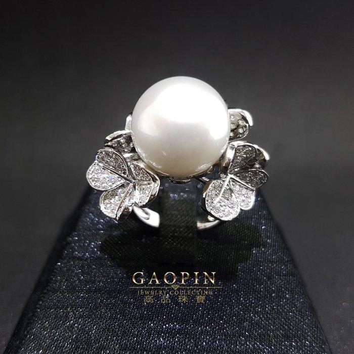 【高品珠寶】14.3mm南洋珍珠戒指 女戒 18K (已售出可訂製 )#3333