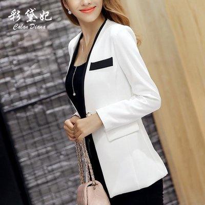 春夏新款韓版女裝小西裝女外套時尚氣質長袖西服上衣女    全館免運