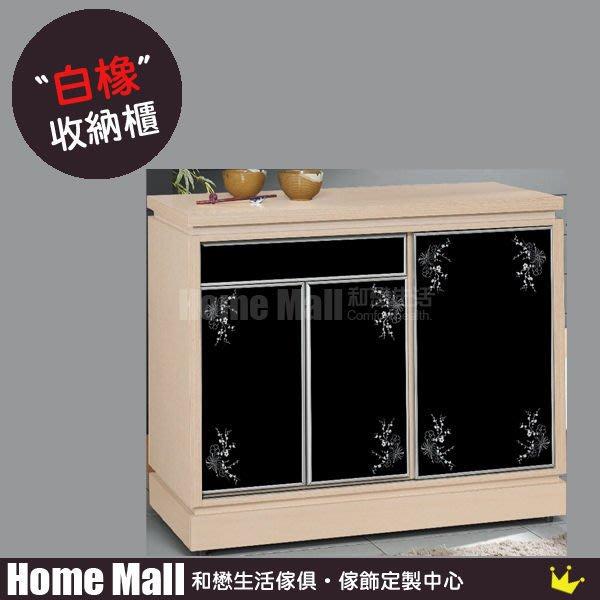 HOME MALL~梵谷4尺碗盤收納櫃(白橡色/白色/柚木色) $6150 (雙北市免運)5B
