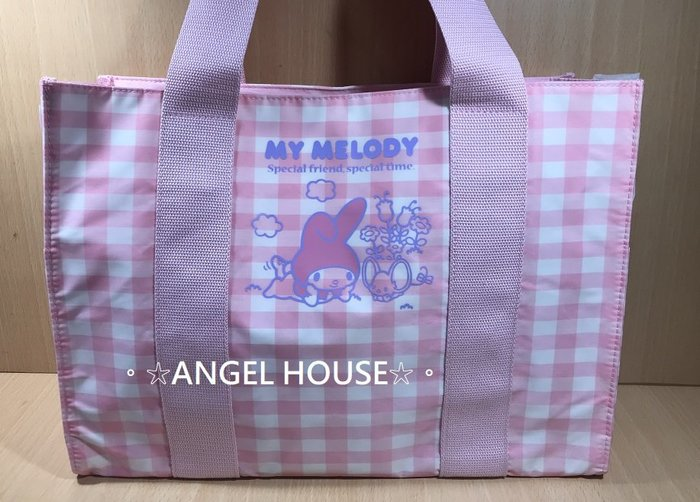 。☆ANGEL HOUSE☆。日本進口**melody 美樂蒂**我的好朋友防水背包/補習袋053