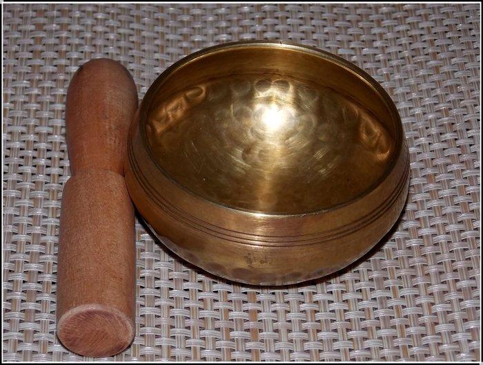 【雅之賞|藏傳|佛教文物】特賣*尼泊爾手工8.5cm響銅佛音碗