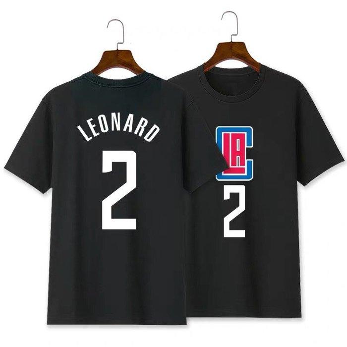 💥雷納德Kawhi Leonard短袖棉T恤上衣💥NBA快艇隊Adidas愛迪達運動籃球衣服T-shirt男女962