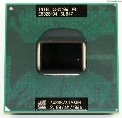 【含稅】Intel Core 2 Duo Mobile T9600 2.80G 雙核 35W 正式CPU 一年保